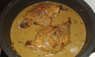 Link the sauce with heavy cream