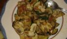 Réserver , frire les rondelles fines de pommes de terre, et réchauffer la garniture avant de dresser. Reserve and fry the potatoes' slices