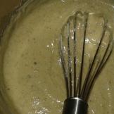 Ajouter les noix mixées et transvaser dans un saladier inox.Add the mixed walnut