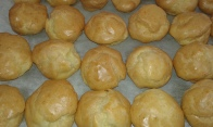 Faire les choux selon ma recette. make the puffs following my recipe