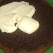 Mettre dessus une partie de la crème pâtissière coco faite la veille, faite comme le lait.et détendue avec un peu de crème épaisse. Put on a part of coco pastry cream done, like with milk. (recipe on blog) .