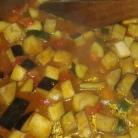 Une fois les aubergines cuites, éteindre la plaque ou le feu et vérifier l'assaisonnement et laisser de côté.