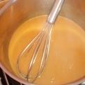 Porter le fumet à ébullition et lié la sauce en incorporant petit à petit du beurre manié. Il faut que la sauce soit un petit peu épaisse. Bring to boil fumet, and link wtih kneaded butter. The sauce must be a little thick.check seasoning.