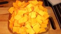 Sur la quantité de potiron, j'en prélève 270 gr On the quantity of pumpkin, i take 9 Oz