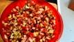 Ajouter les olives noires concassées, sel poivre, du moulin; un peu de persil haché , huile d'olive, vinaigre de balsamique, bien mélanger tous les ingrédients , et vérifier l'assaisonnement . Add crushed black olive, salt pepper, mix parsley, olive oil, balsamic vinegar and well stir all ingredients , taste to check for seasoning