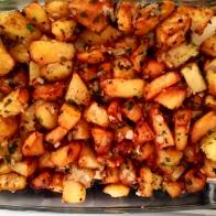 Mettre pardessus les pommes de terre. Put potatoes on.